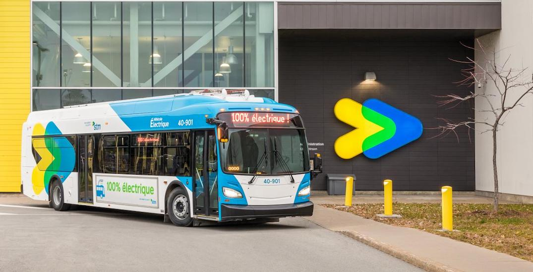 Montreal's first long-range electric STM bus has arrived