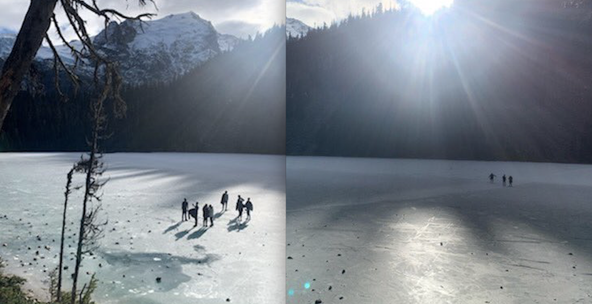 """Please don't do this"": Police warn visitors to stay off thin ice at Joffre Lakes"