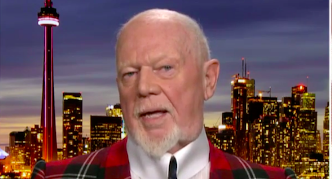 """Don Cherry tells Fox News he should have said """"everybody"""" instead of """"you people"""" (VIDEO)"""