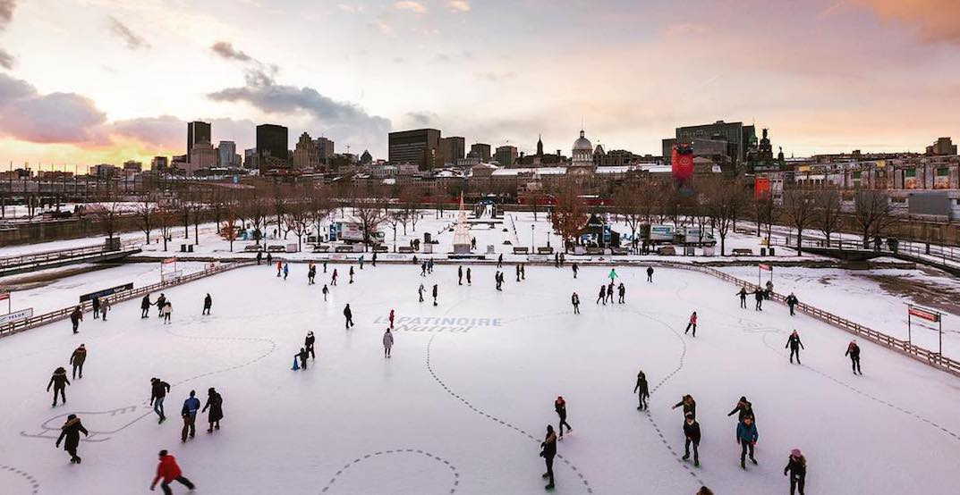 Old Montreal's outdoor skating rink opens to the public next month