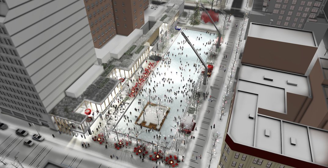 The Quartier des Spectacles is getting a new skating rink