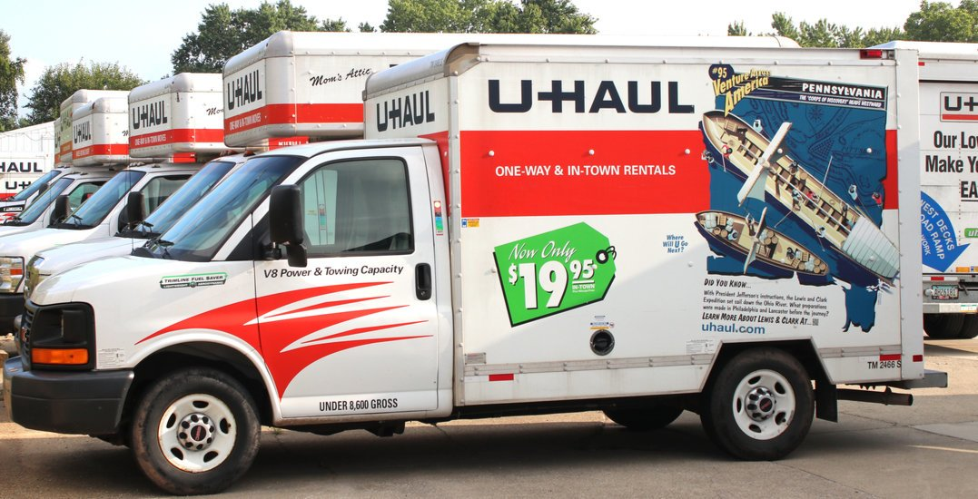 Someone allegedly tried to flee Calgary police in a U-Haul cube van