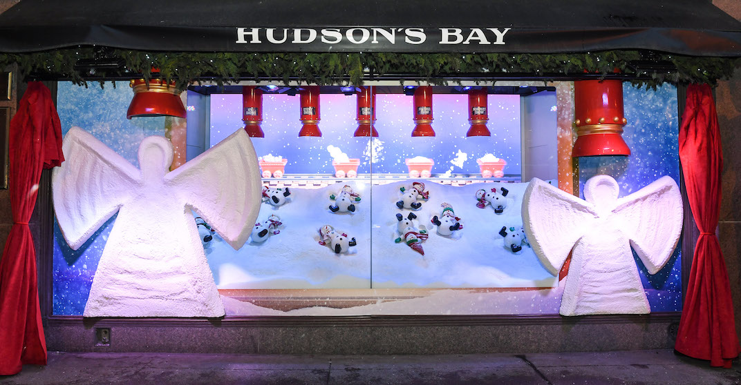 Here's what the Hudson's Bay's holiday windows look like (PHOTOS)