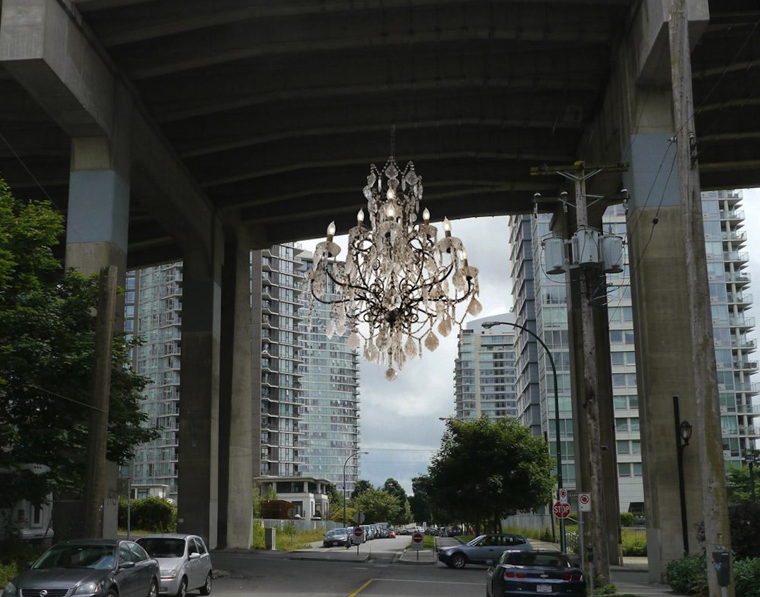 spinning chandelier vancouver house