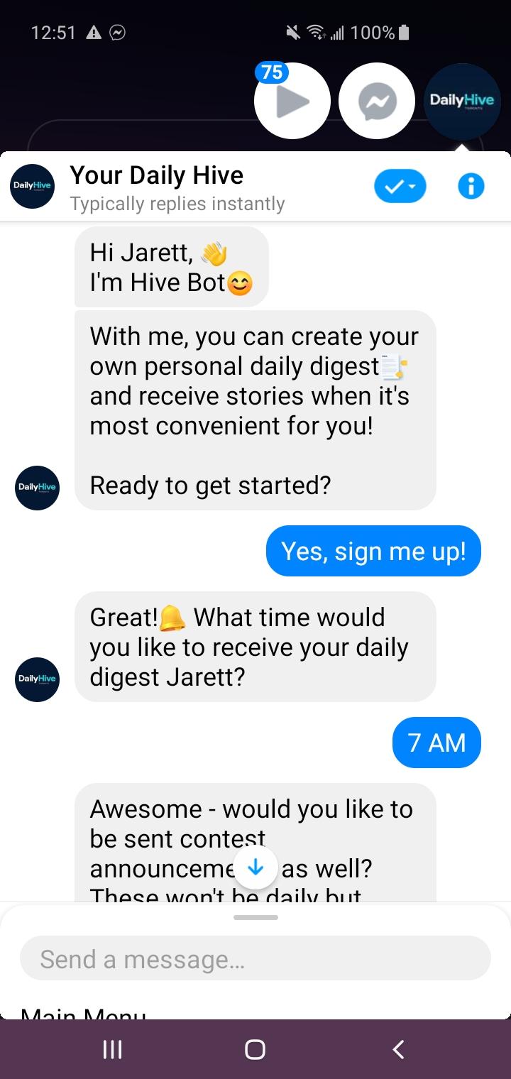 HiveBot - Opt-In Screenshot