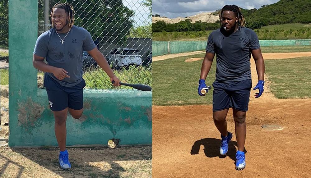 Blue Jays slugger Vladimir Guerrero Jr. gets his workout on (VIDEOS)