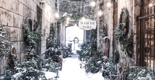 Christmas alleyway