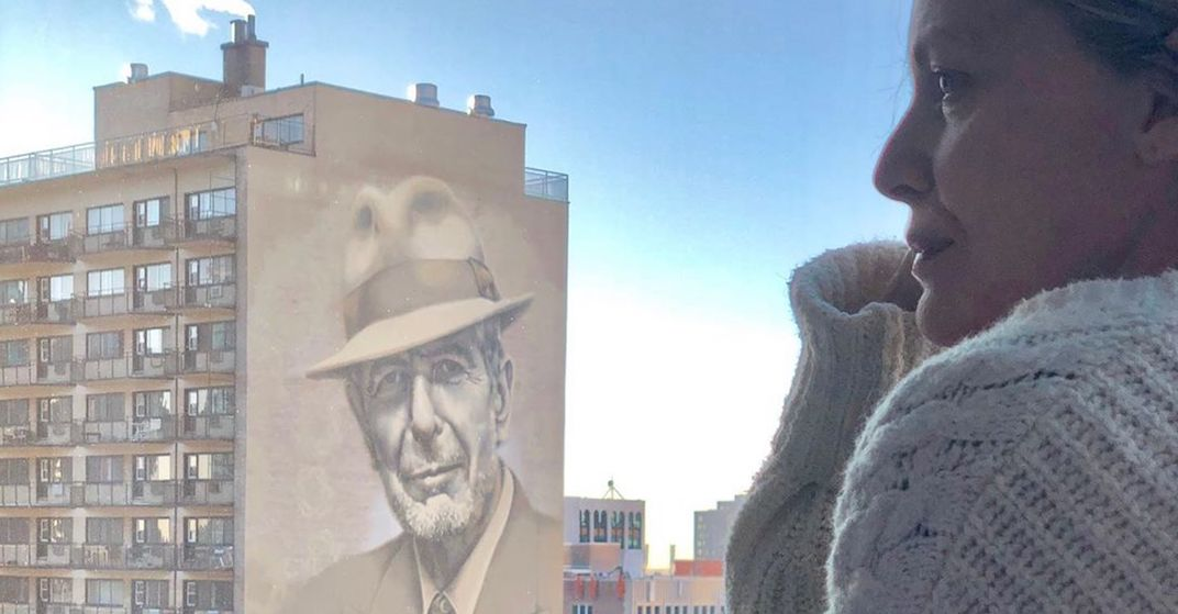 Michelle Pfeiffer shares picture of herself overlooking Crescent's Leonard Cohen mural