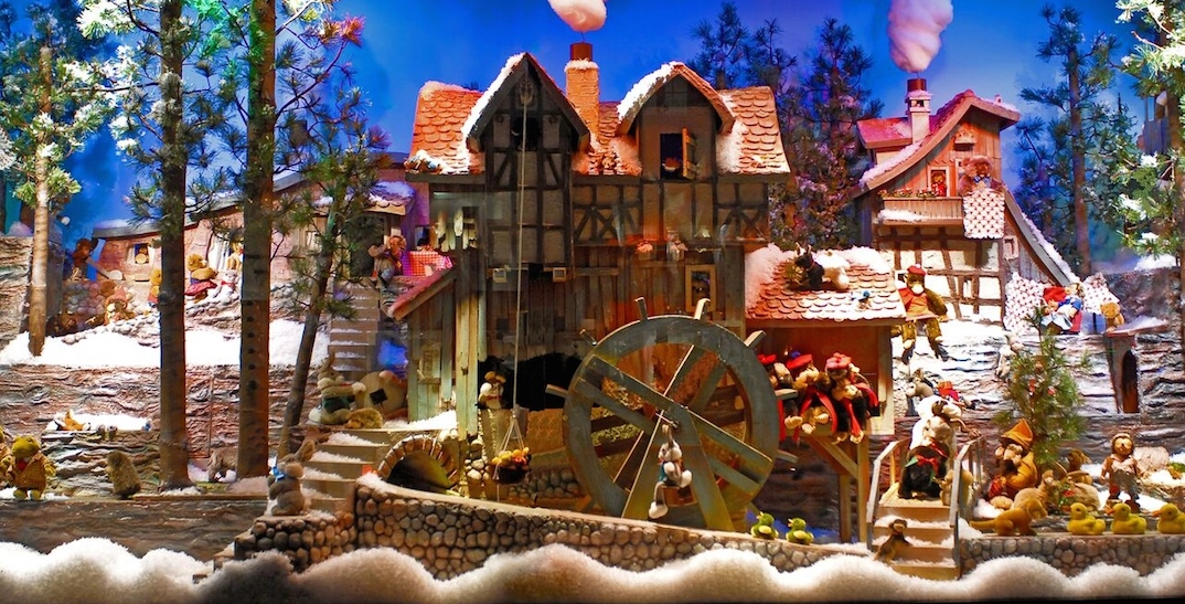 Ogilvy's old window Christmas display has returned to Sherbrooke Street