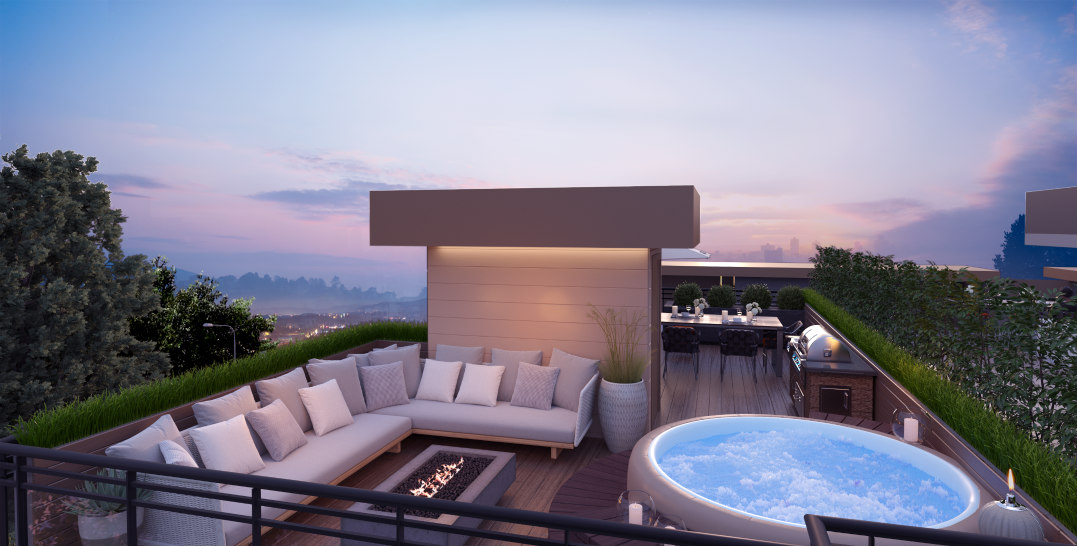 You could have your own private rooftop patio at this Langley development