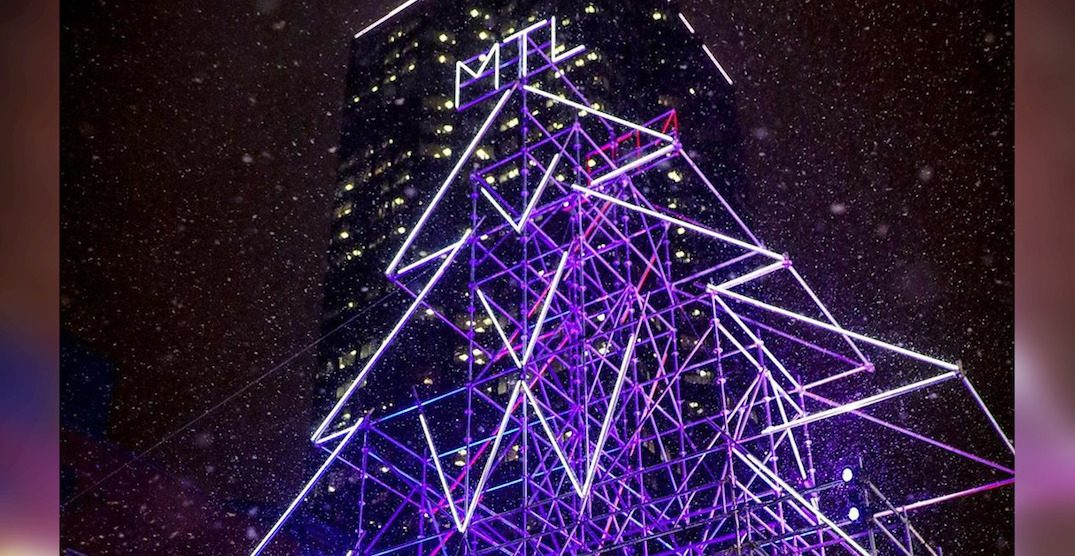 "Check out Montreal's giant illuminated ""scaffold Christmas tree"" (PHOTOS)"