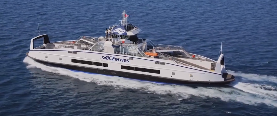 bc ferries island class hybrid electric