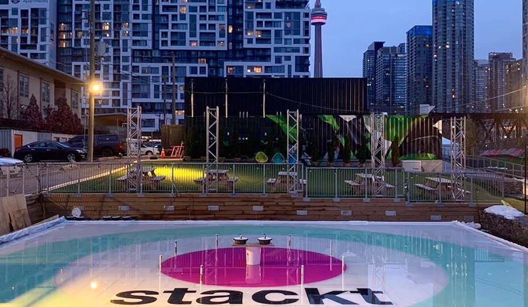 A massive rink is opening at Toronto's shipping container market tomorrow