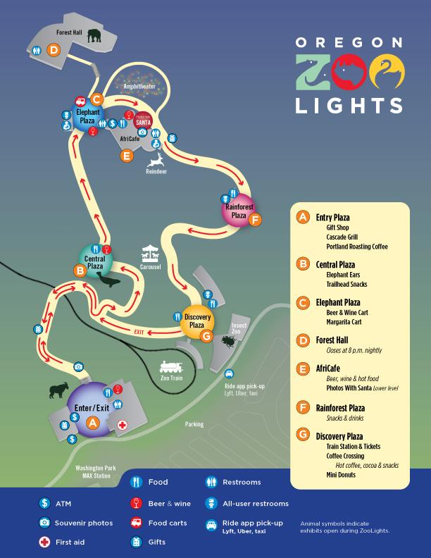 zoo lights map