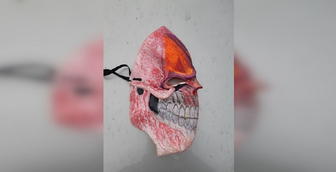 Homemade weapon and terrifying mask seized in traffic stop: police
