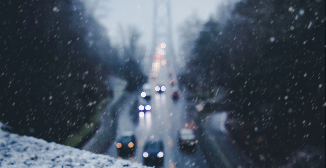 Lower Mainland could see its first snowfall by Monday morning