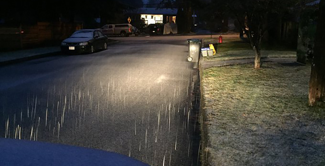 It's already started snowing across parts of Metro Vancouver (PHOTOS)