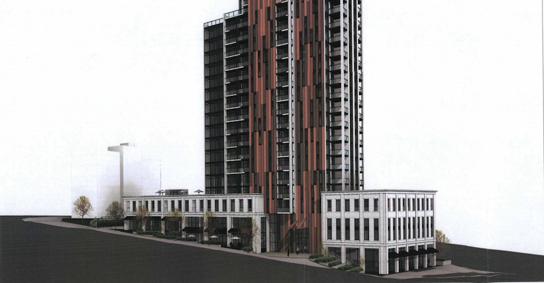25-storey tower with log-inspired design proposed for Coquitlam's Maillardville
