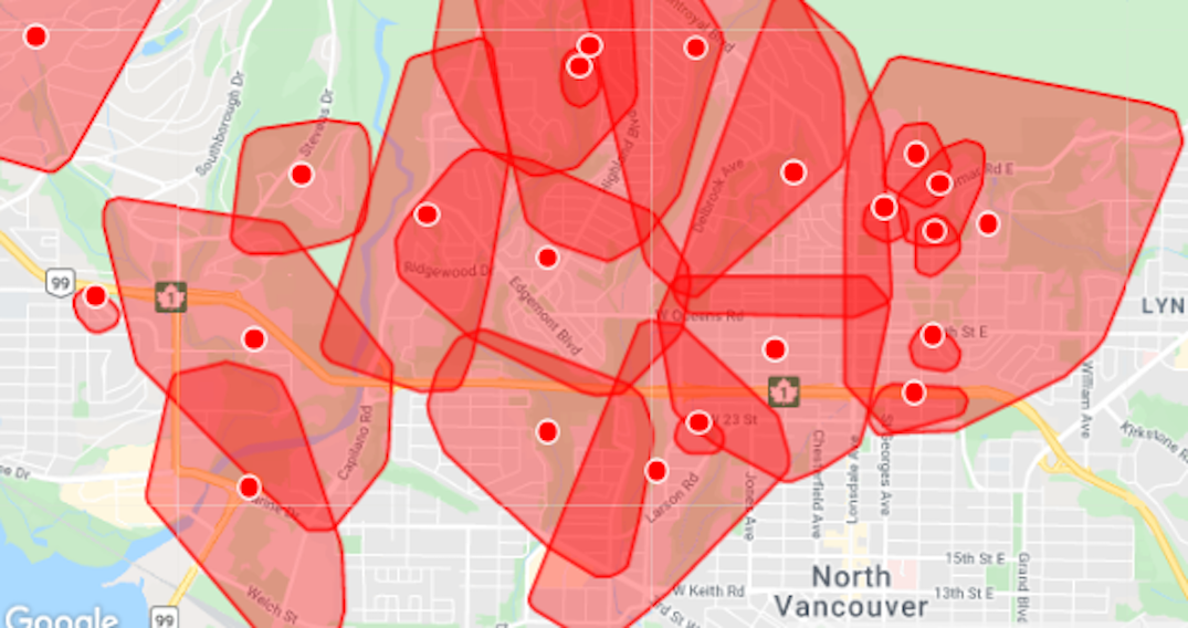 Nearly 20,000 customers already without power in Lower Mainland due to windstorm