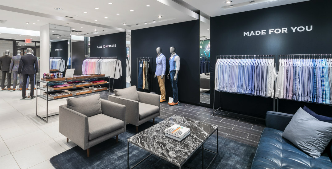 Take a sneak peek inside the busy holiday showroom at Indochino