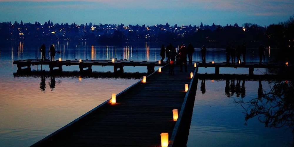 Participate in Green Lake's sparkling candlelit display from home
