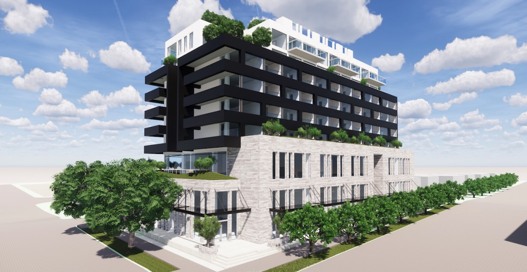 8-storey retail, office, and condo building proposed for Oak Street corner in Marpole