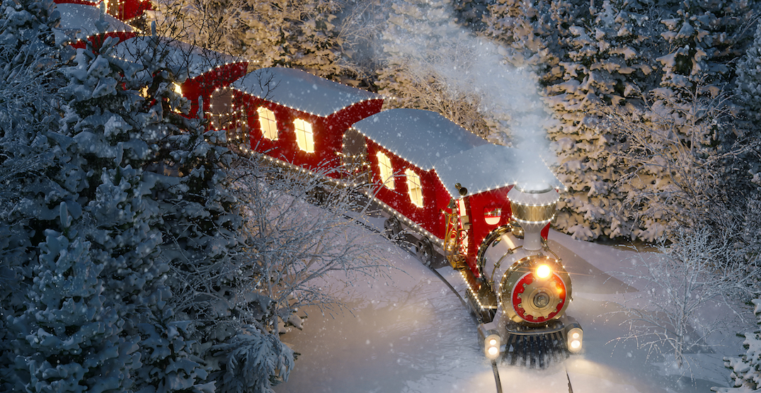 Take a magical Christmas train ride with Santa just outside of Portland