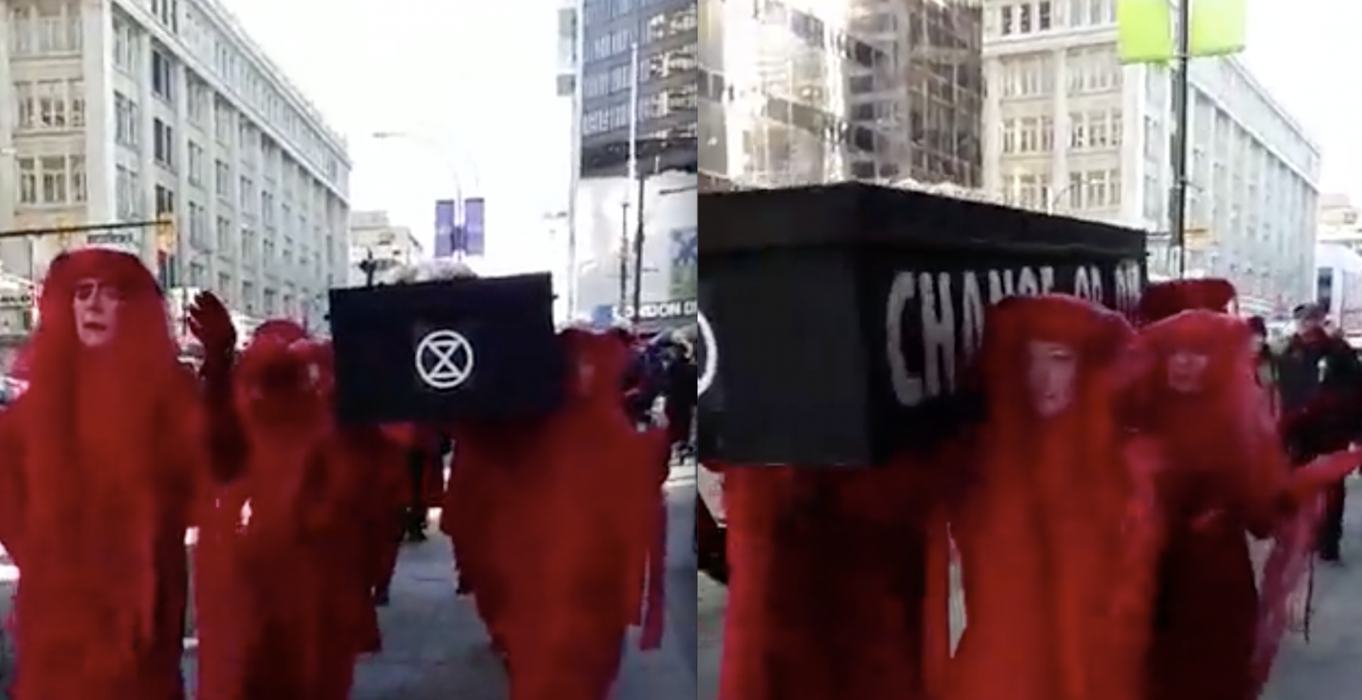 """Black Friday """"climate funeral"""" prompts VPD to close downtown streets"""