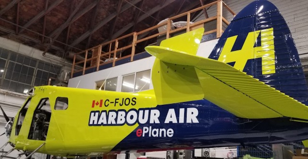 Harbour Air to test world's first electric-battery commercial airplane next month