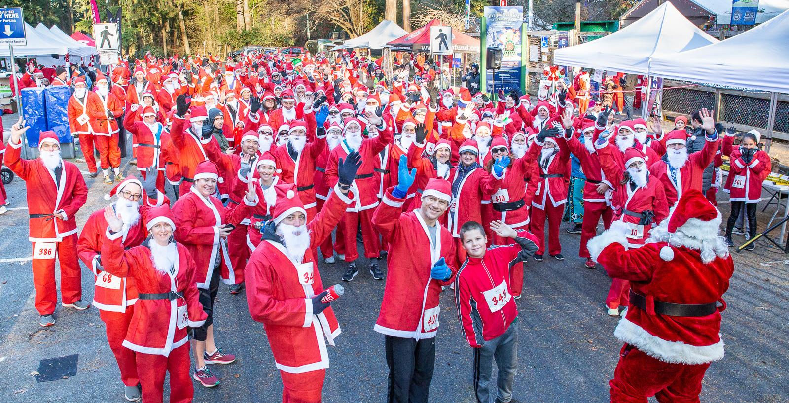 Santas run around Stanley Park in support of burn survivors