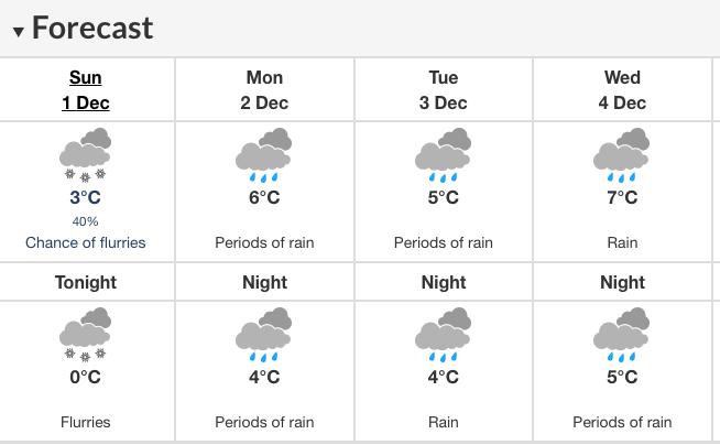 Abbotsford forecast