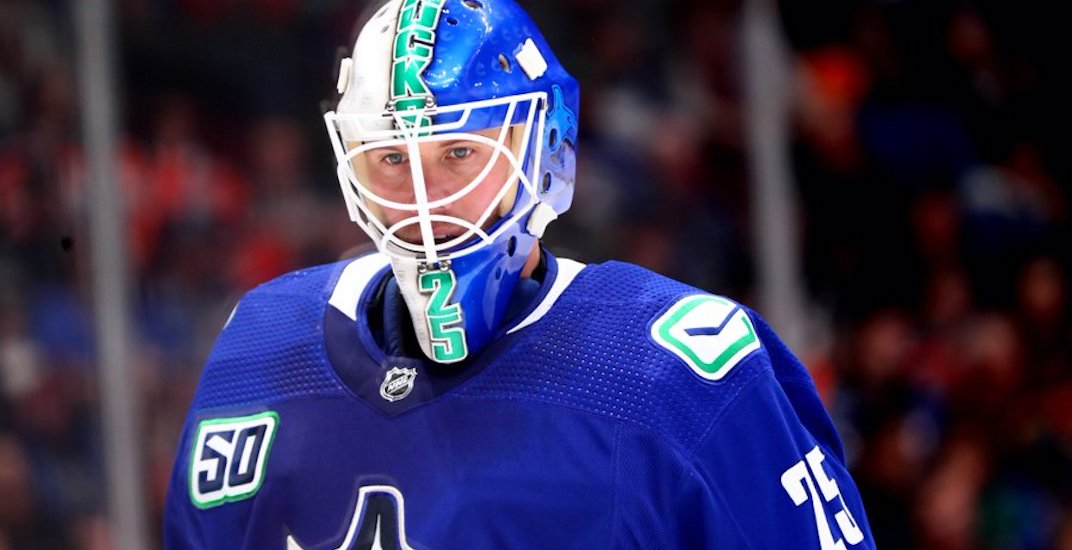 Canucks' Markstrom returns to the ice for first time since injury