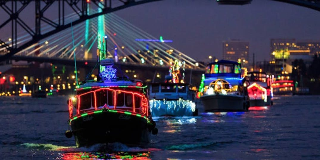 Watch Portland's Christmas Ships Parade during an awesome night cruise