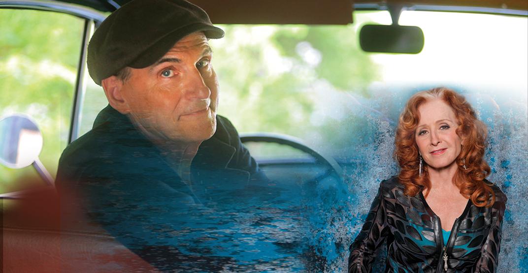 James Taylor and Bonnie Raitt announce Canadian tour with Vancouver stop