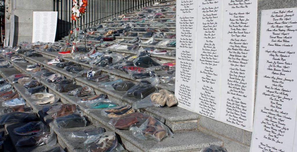 shoe memorial