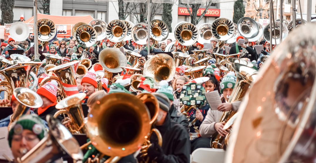 Celebrate Christmas with hundreds of tubas in the heart of Portland