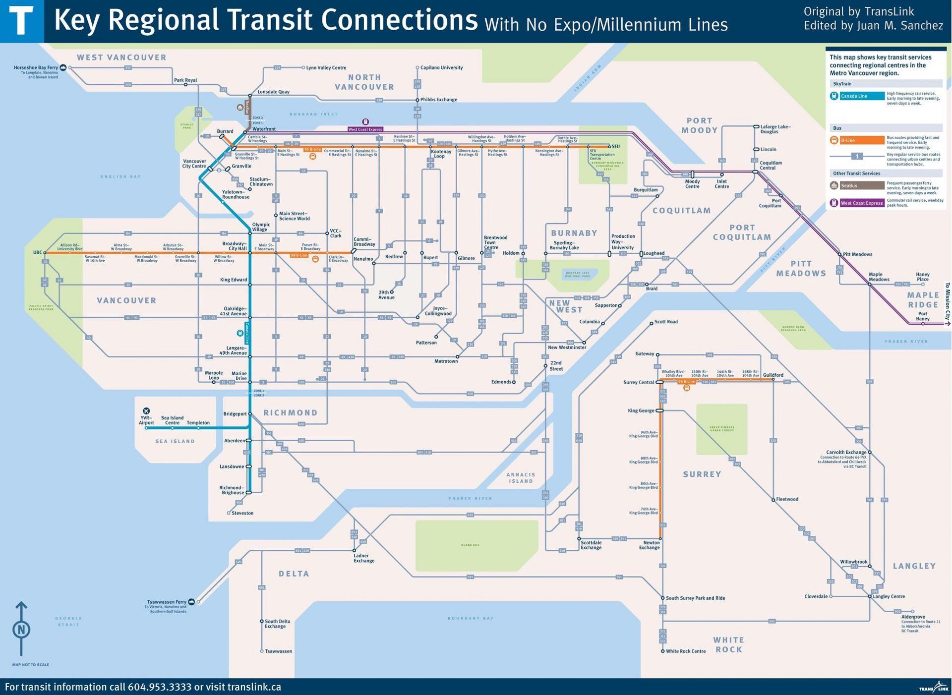 skytrain strike network map f