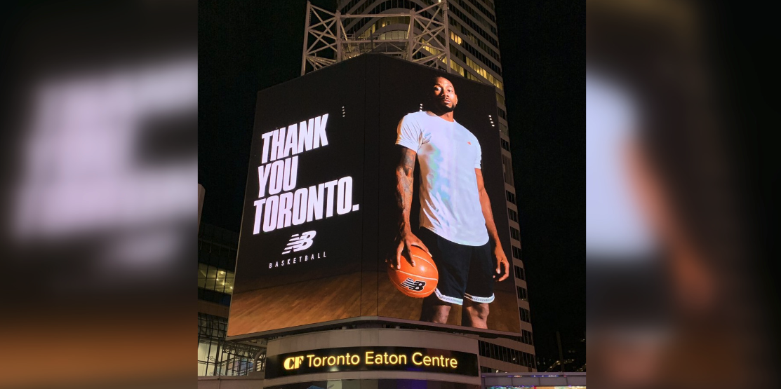 "A ""thank you"" from Kawhi Leonard to Toronto appears on billboard at Yonge-Dundas Square"
