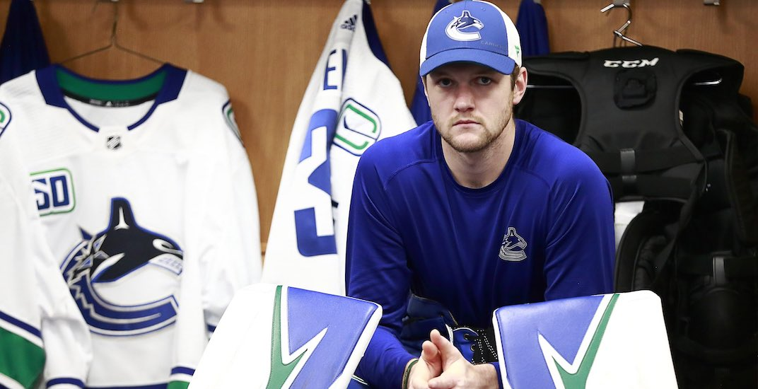 Canucks goalie Thatcher Demko suffers concussion at practice
