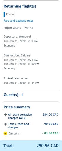 cheap flight montreal