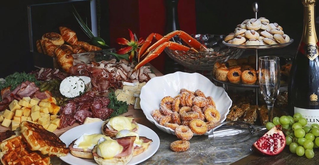 Glowbal is offering a Christmas brunch buffet with 100+ items in Vancouver