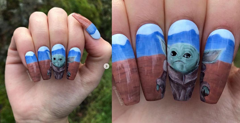 BC nail tech creates adorable Baby Yoda manicure