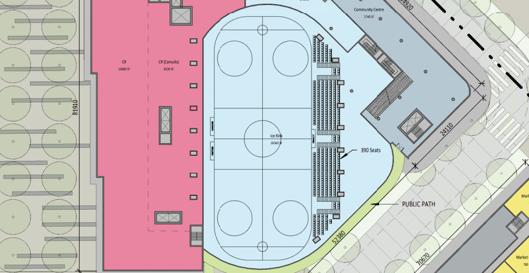 First look at plans for new Canucks practice rink in downtown Vancouver