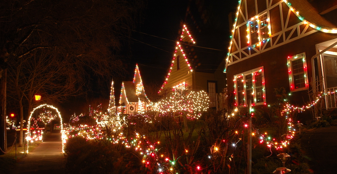 Sip on cocoa and cider at the annual Peacock Lane Holiday Lights Displays