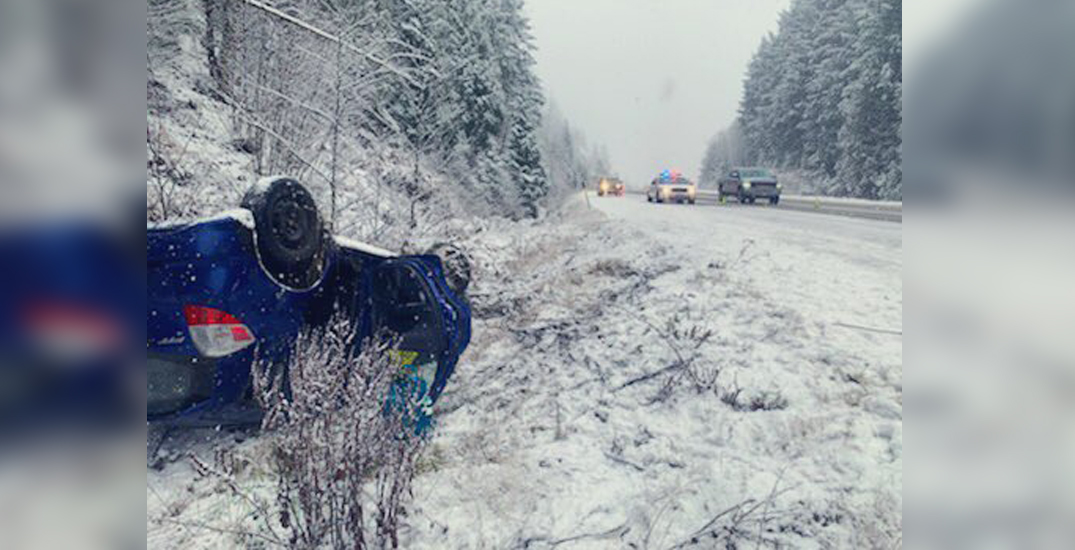 Multiple crashes reported on snowy Sea to Sky Highway