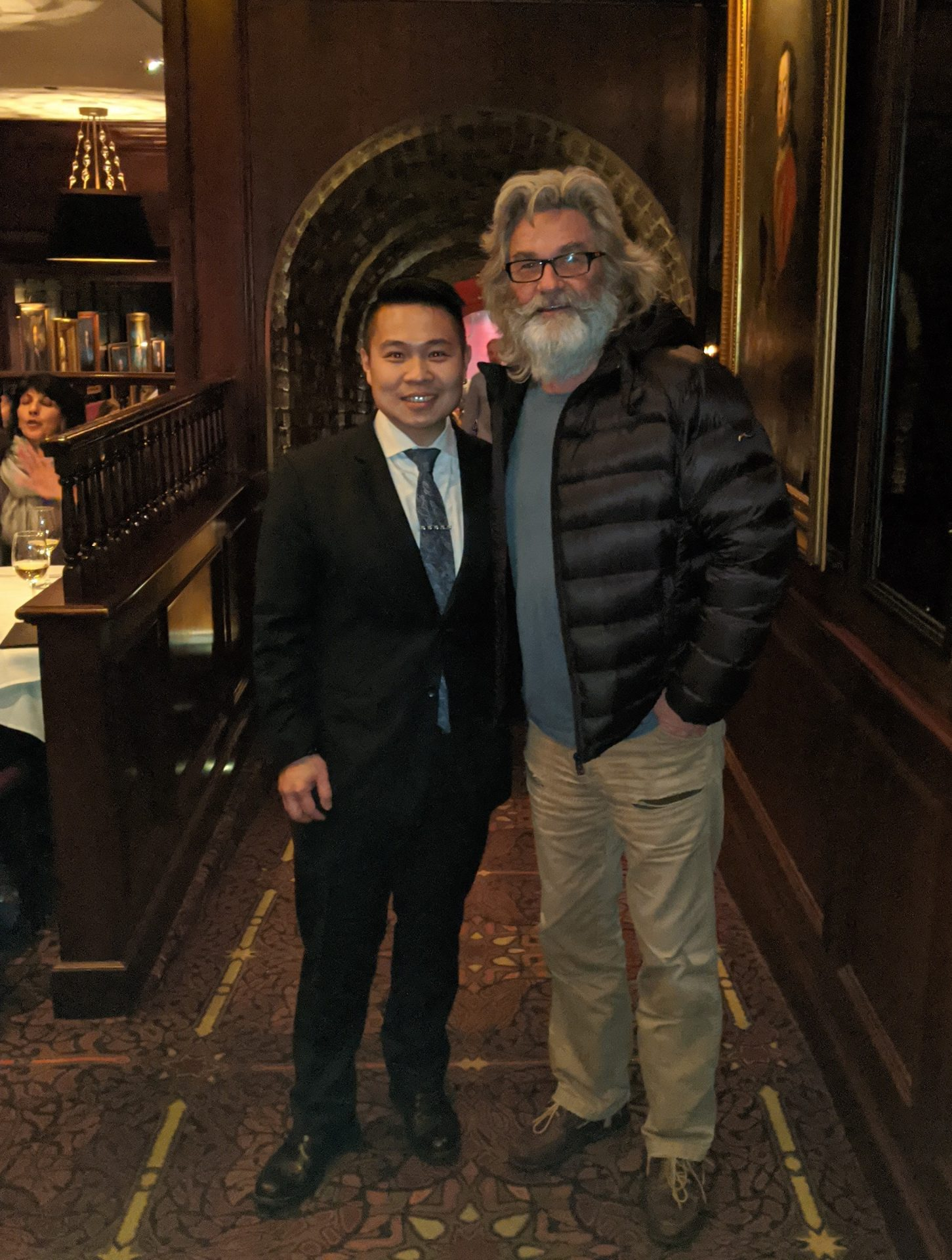 Kurt Russell at Hy's in Vancouver