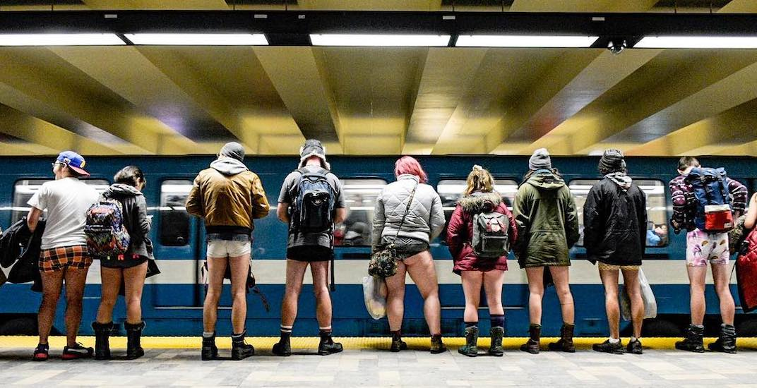 "The ""No Pants"" metro ride is returning to Montreal this weekend"