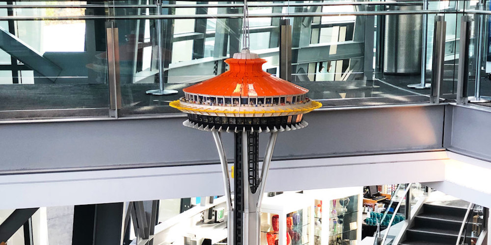 You can now visit a 14-foot LEGO replica of the Seattle Space Needle