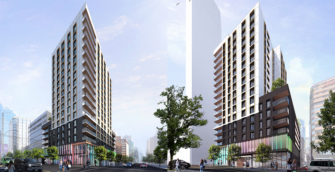 17-storey wood tower with LGBTQ community centre proposed for downtown Vancouver