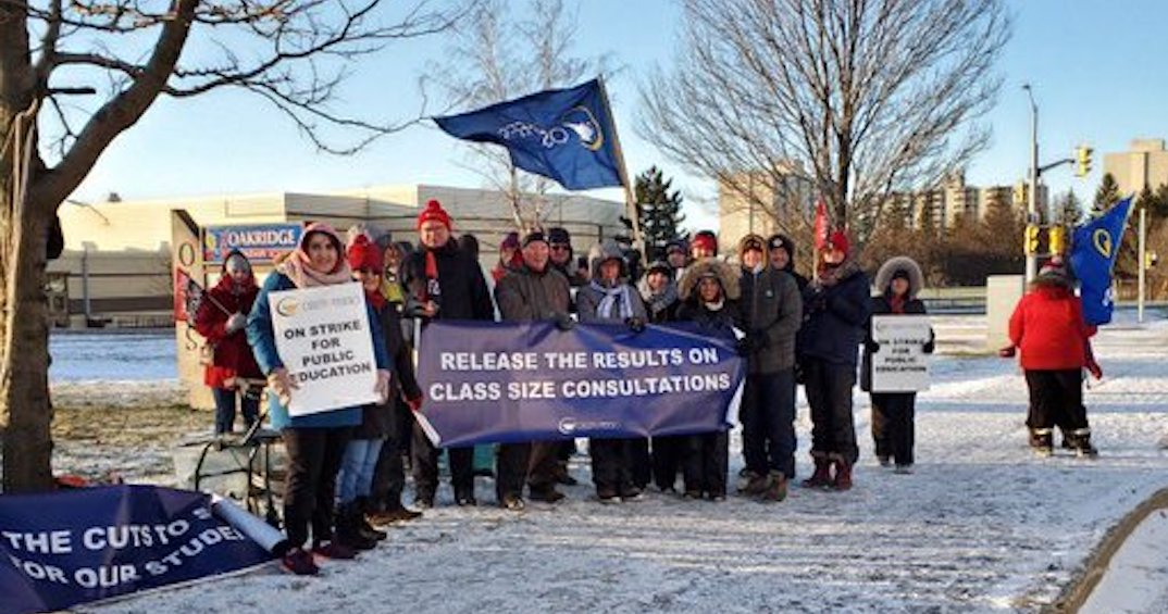 Ontario public high school teachers hold 3rd job action today